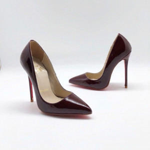 Туфли Christian Louboutin So Kate бордовые